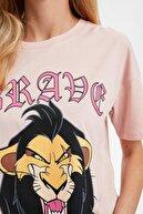 Defacto Kadın Bordo The Lion King Brade Lisanslı Tişört S4940AZ20SM