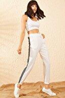 Bianco Lucci Kadın Beyaz Kadın Melanj Jogger İki İplik Beli Lastikli Üç İplik Şeritli Eşofman Altı 10101020