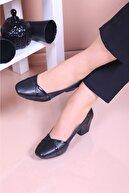 MERVESTORE Kadın Siyah Klasik  Ayakkabısı