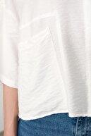 TRENDYOLMİLLA Beyaz Bol Kesim Gömlek TWOSS20GO0381