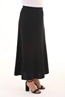 Sevda Etek Kadın Siyah Manşet Uzun Etek