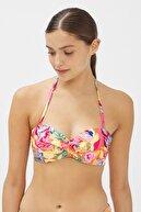 Penti Kadın Çok Renkli Flory Straplez Cup Bikini Üstü
