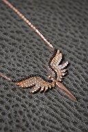 Elika Silver Kadın Melek Model Zirkon Taşlı 925 Ayar Gümüş Kolye PP2346
