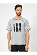 Koton Erkek Gri Yazılı Baskılı T-Shirt 0YAM12413NK