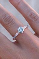 Crystal Diamond Zirconia 0.30 Karat / 0.30 Carat Rose Labaratuvar Pırlantası Tektaş Yüzük