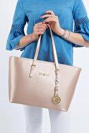 Beverly Hills Polo Club Kadın El ve Omuz Çantası Rose Gold