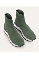 Mudo Kadın Haki Kalın Tabanlı Çorap Sneaker