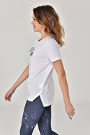 bilcee Beyaz Kadın T-Shirt GS-8625