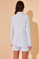 TRENDYOLMİLLA Mavi Cep Detaylı Ceket TWOSS20CE0122
