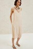 Yargıcı Kadın Bej Askılı Elbise 9YKEL7127X