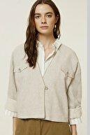 Yargıcı Kadın Vizon Cep Detaylı Ceket 0YKCK5156X