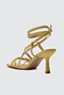 Trendyol Shoes Sarı Küt Burunlu Kadın Klasik Topuklu Ayakkabı TAKSS21TO0038