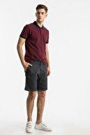Ltb Erkek  Bordo Polo Yaka T-Shirt 012208452060890000