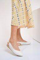Shoes Time Beyaz Deri Kadın Sandalet 20Y 900