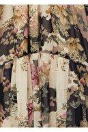 Mango Çiçek Desenli Dökümlü Elbise