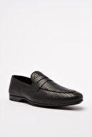 Hotiç Hakiki Deri Siyah Erkek Loafer Ayakkabı 02AYH206300A100