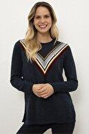 US Polo Assn Lacivert Kadın Triko Kazak