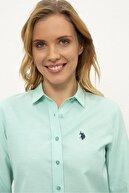 US Polo Assn Yesıl Kadın Dokuma Gömlek G082Gl004.000.1261820
