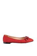 Soho Exclusive Kırmızı Süet  Kadın Babet 16050