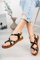 Muggo Infw312 Hakiki Deri Kadın Sandalet