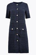 Marks & Spencer Kadın Lacivert Düğme Detaylı Tüvit Elbise T59005908D