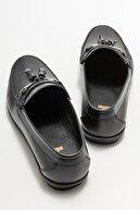Elle Erkek Siyah Deri Günlük Loafer Ayakkabı