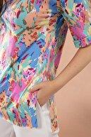 Pattaya Kadın Kamuflaj Baskılı Kısa Kollu Tişört Y20s110-4166