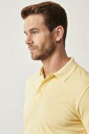 Altınyıldız Classics Erkek Sarı Polo Yaka Cepsiz Slim Fit Dar Kesim %100 Koton Düz Tişört
