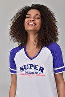 bilcee Beyaz Kadın T-Shirt GS-8616