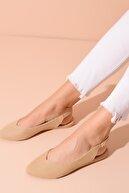 Shoes Time Bej Hasır Kadın Sandalet 20Y 900