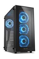 SHARKOON TG5 USB 3.0 4xLed Fanlı Pencereli Mavi ATX Kasa TG5-BLUE
