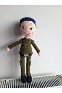 Binbir Trend El Örgüsü Polis Amigurumi Oyuncak Bebek Türk Asker Oyuncak 35cm