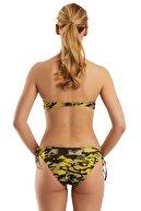 AYYILDIZ Kadın Sari Straplez Bikini Takımı