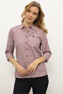 US Polo Assn Kırmızı Kadın Dokuma Gömlek G082Gl004.000.1261820