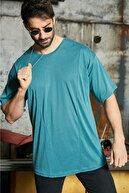Sateen Men Erkek Turkuaz Oversize T-Shirt