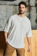 Sateen Men Erkek Beyaz Waffle T-Shirt