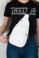 By Hakan Kadın Beyaz Krinkıl Bodybag Çanta
