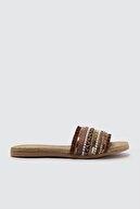 Trendyol Shoes Kahverengi Etnik Kadın Terlik TAKSS21TE0011