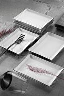 Porland Modern Siyah Fileli Yemek Ve Sunum Takımı 18 Parça