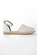 Modagon Kadın Treia Beyaz Dantelli Sandalet