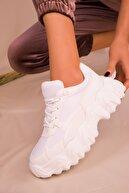 Soho Exclusive Beyaz Kadın Sneaker 16083