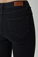 CROSS JEANS Judy Siyah Yüksek Bel Skinny Fit Yıpratma Detaylı Jean Pantolon C 4521-030