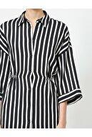 Koton Kadın Çizgili Gömlek Elbise