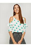 Koton Kadın Yeşil Bluz 8YAK68735PW
