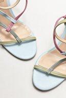 Elle Kadın Mavi Topuklu Sandalet