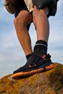 Beyond  Kadın Siyah Turuncu Step Bayan Cırtlı Trekking Sandalet