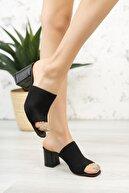 Moda Değirmeni Kadın Topuklu Triko Terlik Md1050-122-0005