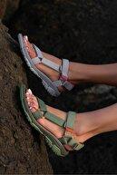 Beyond  Haki Step Cırtlı Trekking Sandalet