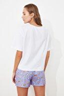 TRENDYOLMİLLA Baskılı Örme Pijama Takımı THMSS21PT0490
