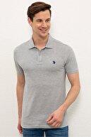 US Polo Assn Grı Erkek T-Shirt